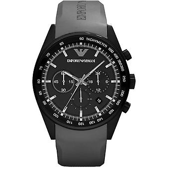Emporio Armani Ar5978 - Mens Black Sportivo Chrono Watch