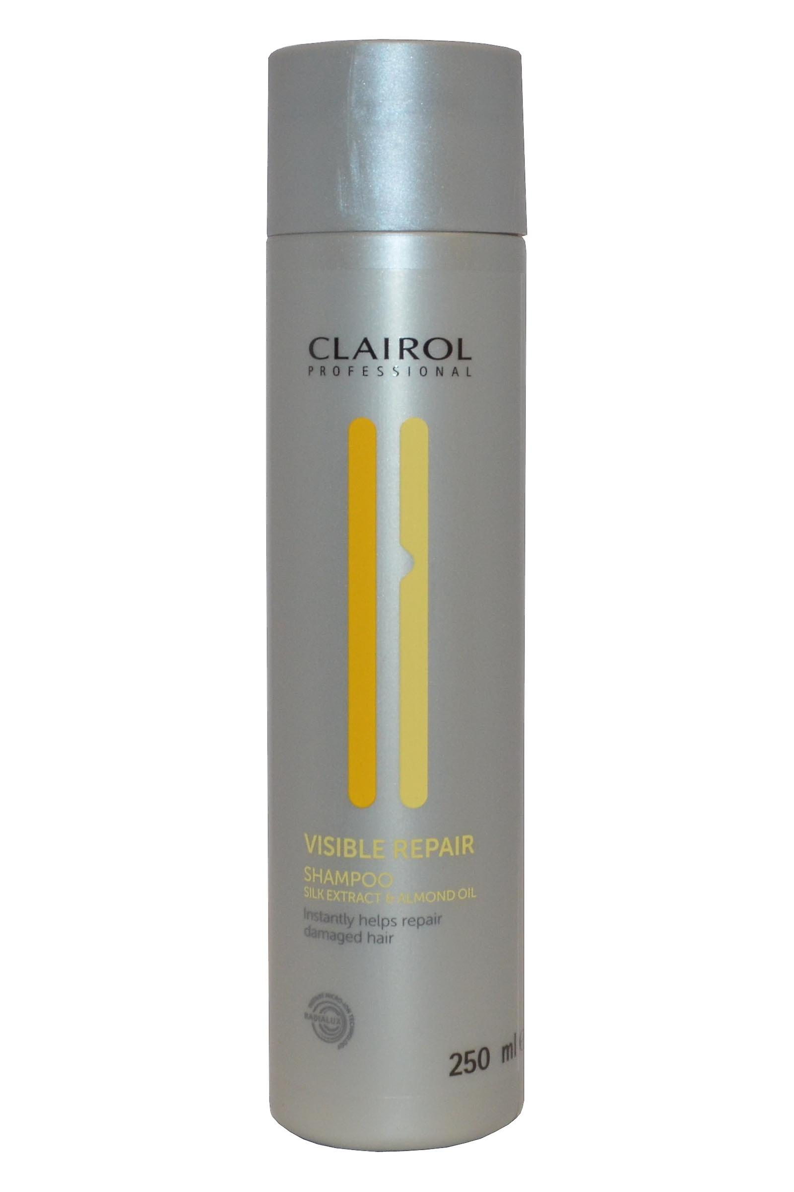 Clairol Professional Visible Repair Shampoo 250ml Silk Extract and Almond Oil