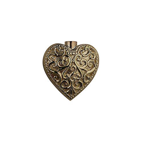 9ct Gold 25x22mm handmade Embossed Heart shaped Memorial Locket