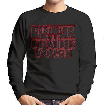 Stranger Things Outline Text Entrez le Sweatshirt pour homme à l'envers