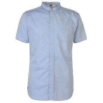 Soviet Mens Short Sleeve Grandad Casual Shirt Everyday Chest Pocket