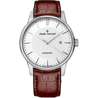 Claude bernard sophisticateds Swiss Automatic Analog Man Watch with Cowskin Bracelet 80091 3 AIN
