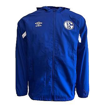 2019-2020 Schalke Umbro Shower Jacket (Blue)