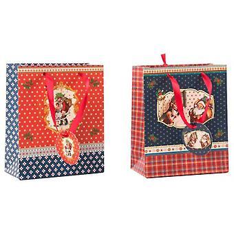 Wellindal bolsa de papel 2 modelos (decoración, Navidad, decoración Navidad, otros)