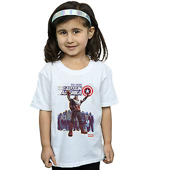 Marvel Girls Captain America Sam Wilson Cover T-Shirt