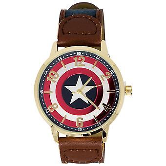 キャプテン・アメリカ・ロゴ・ウォッチ