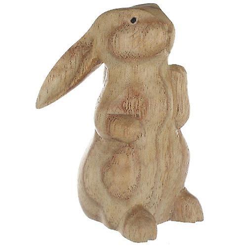 Sitting Wood Rabbit 8cm