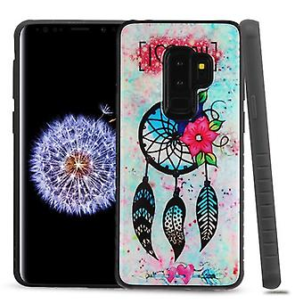MYBAT Dreamcatcher Love Gel/Black Fusion Protector Cover  for Galaxy S9 Plus