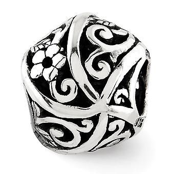 925 Sterling Silver finish Reflektioner Blommor och vinstockar Bali Bead Charm Hängande Halsband Smycken Gåvor för kvinnor