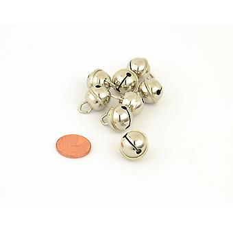 8 Silber 15mm Cat Bell Stil Jingle Bells für Handwerk