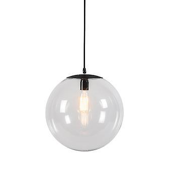 Lampada a pannelli moderna QA-QA 35cm Nero con chiara ombra di vetro - Pallon