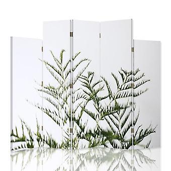 Decoratieve scheidingswand van de kamer, 5 panelen, canvas, groene plant 2