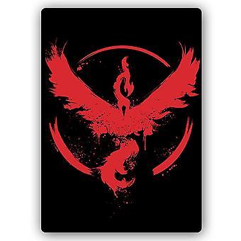 Metalen print, Red Phoenix