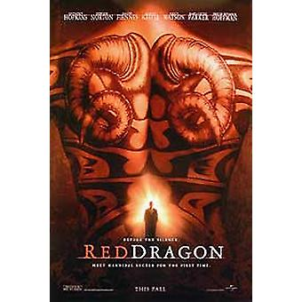 Roter Drache (doppelseitige Vorschuss) Original Kino Poster