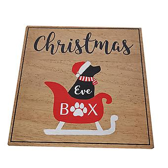 Christmas Eve Treat Wooden Box - Dog by Widdop & Co