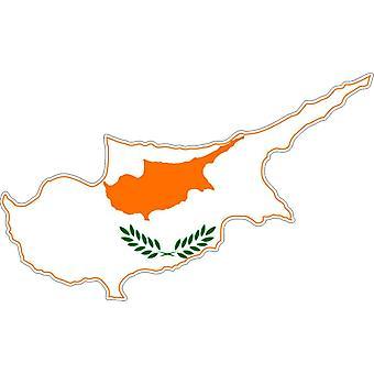 Sticker Sticker Adhesif Car Vinyl Flag Map Cyprus