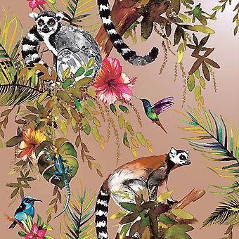 Lemur wallpaper Rose Gold Holden 12404