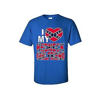 Unisex I Love My Redneck Girlfriend Southern Pride Short Sleeve T-shirt