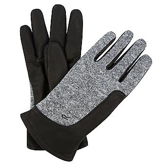 Regatta Mens Gerson Lightweight Fleece Panel Leather Gloves