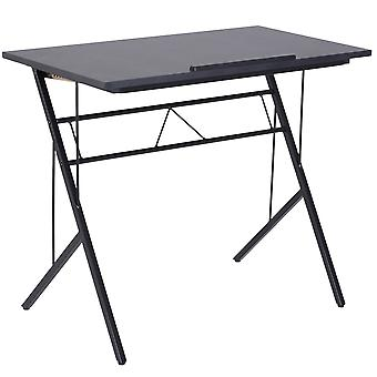 Vinsetto Computer Desk Writing Workstation Art Drawing Drafting Board Craft Table Tiltable Tabletop Adjustable Height Black 90L x 50W x 76-116.5H cm