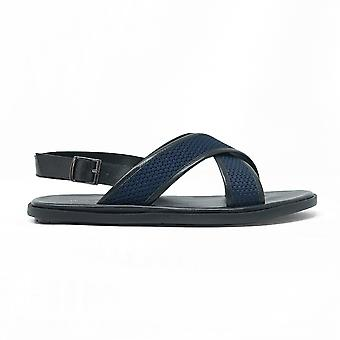 Mens walk london martini sandals in black and navy