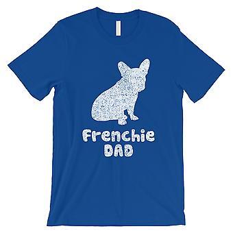 Francês Bulldog Dad Mens Royal Blue Caring Confiável Lucky Shirt Gift