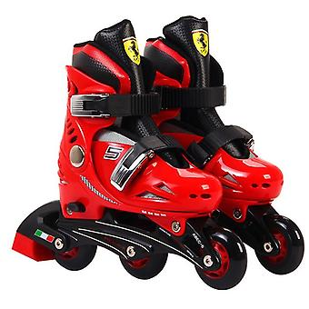 Chipolino Ferrari Set Inliner red, helmet and protectors, size 33-36 adjustable