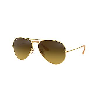 Ray-Ban Aviator RB3025 112/85 Matte Gold/Brown Sunglasses