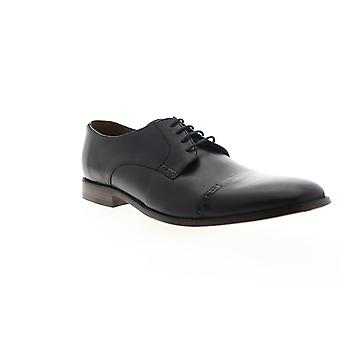Bostonian Narrate Cap  Mens Black Leather Dress Lace Up Oxfords Shoes