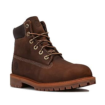 Junior Timberland Authentic 6 Inch Waterproof Boot In Brown