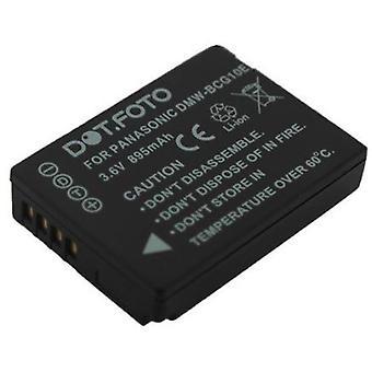 Dot.Foto Panasonic DMW-BCG10, DMW-BCG10E batteri - 3.6V / 895mAh