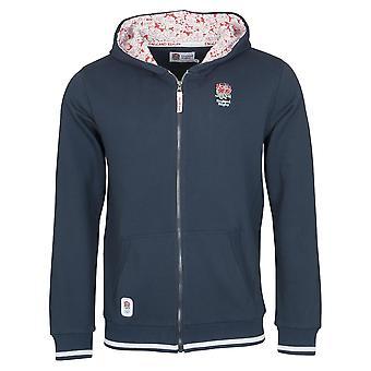 England RFU Rugby Kids Full Zip Hoodie | Navy