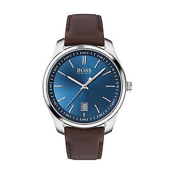 Hugo Boss Uhr 1513728 - Circuit Case Steel Blau Zifferblatt braun Lederarmband