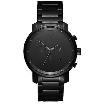 MVMT D-MC01BB klocka-mäns svart stål Timewatch