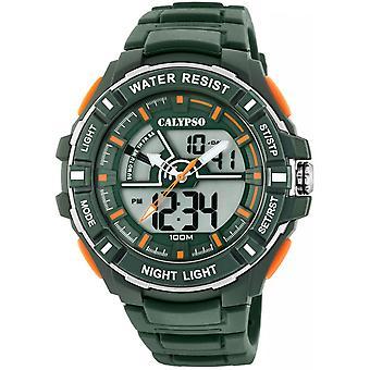 Calypso klocka klockor K5769-5 - klocka silikon grön man
