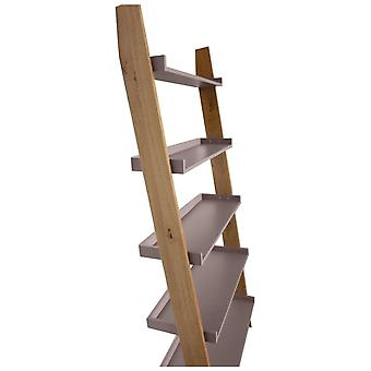 Fusion Living Modern Retro Oak And Grey Ladder Shelf