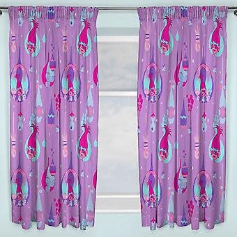 Trolls Childrens/Kids Official Glow Curtains