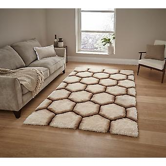 Noble House 30782 30782 Cream Brown  Rectangle Rugs Funky Rugs