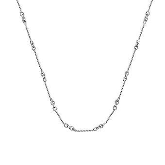 14k לבן זהב. 8mm שרשרת כבל בר מעוות שרשרת טופר לובסטר הסגר תכשיטים מתנות לנשים-אורך: 16 אל 20