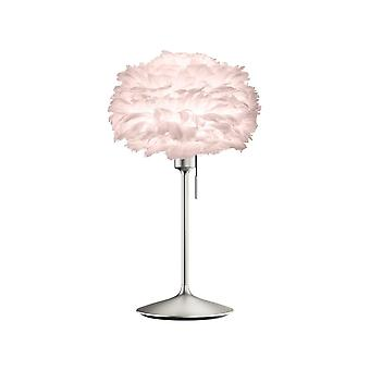 Lampe de table Umage Eos - Light Rose Feather Eos Mini/Brushed Steel Stand