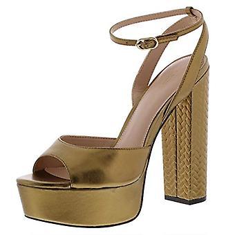 Zoe par Rachel Zoe Womens ZF18F05002 Leather Peep Toe Casual Ankle Strap Sandals