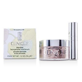 Clinique Blended Face Powder + Brush - No. 02 Transparencia; Precio Premium debido a la escasez 35g/1.2oz