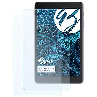 Bruni 2x Screen Protector kompatibel med Alcatel 3T 8 Beskyttende Film