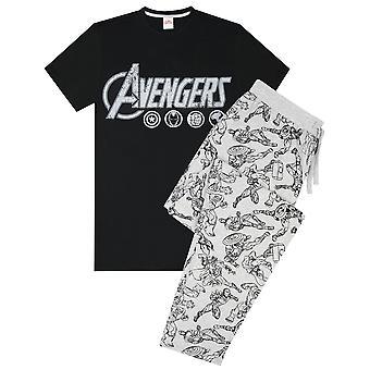 The Avengers Logo Marvel Men's Lounge Pants & T-Shirt Pyjama Set