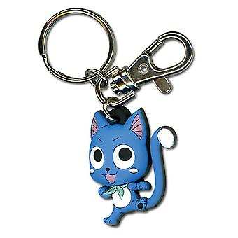 Key Chain - Fairy Tail - New Happy Punch Kick Anime Licensed ge36789