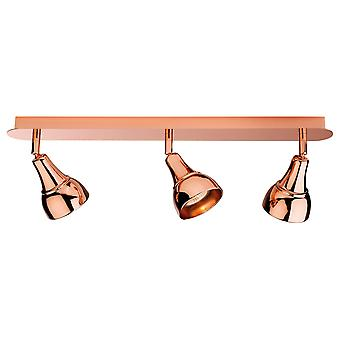 Firstlight Pivotal Industrial Copper 3 Spotlight Ceiling Bar Light