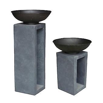 Charles Bentley Metal Fire Bowl met holle console-weerbestendig gemaakt van emaille gecoat staal-medium of large
