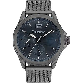 Timberland Watches Tbl.15944jyu/03mm Taunton Gunmetal Grey & Navy Blue Stainless Steel Mesh Watch