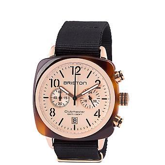 Briston 14140.PRA.T.6.NB Clubmaster Classic Rose Gold Tone Wristwatch