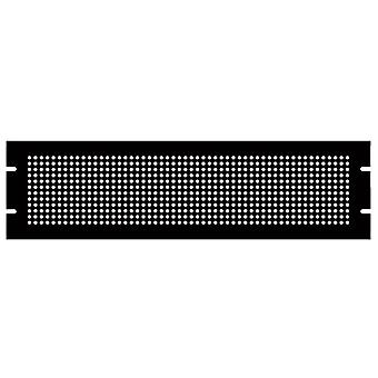 Hammond PPFS19005BK2 3U Steel Blank Panel Black - Perforated 483 x 2 x 133